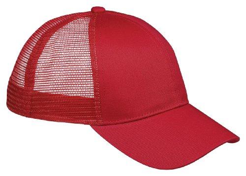 Accessories Big Bagedge (Big Accessories BAGedge 6-Panel Structured Trucker Cap, Red, One Size)