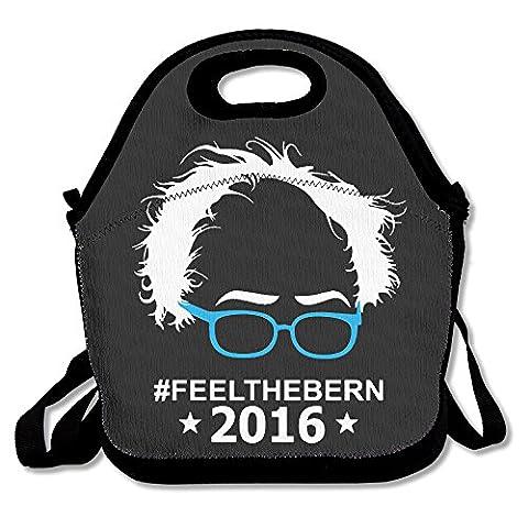 PaTiane Feel The Bern Bernie Sanders 2016 Funny Lunch Tote Lunch Bag (Built Sander)