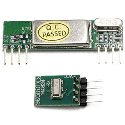 433 Mhz Rf Transmitter - RioRand(TM) 433MHz Superheterodyne RF Link transmitter and receiver kits 3400 for ARM / MCU