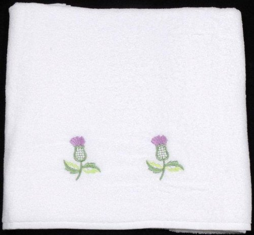 Hand Towel in a Balmoral Thistle Design