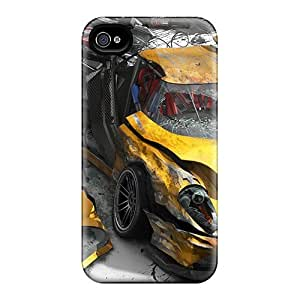 New Snap-on MDCH Skin Case Cover Compatible With Iphone 4/4s- Burnout Revenge