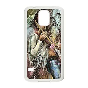 Custom Case Guitar player jimi hendrix poster phone Case Cove For Samsung Galaxy S5 JWH9216198