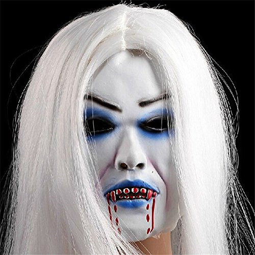 Halloween Mask Horror, Creepy Toothy Ghost Mask Halloween Costume Prop - Asian Horror Costume