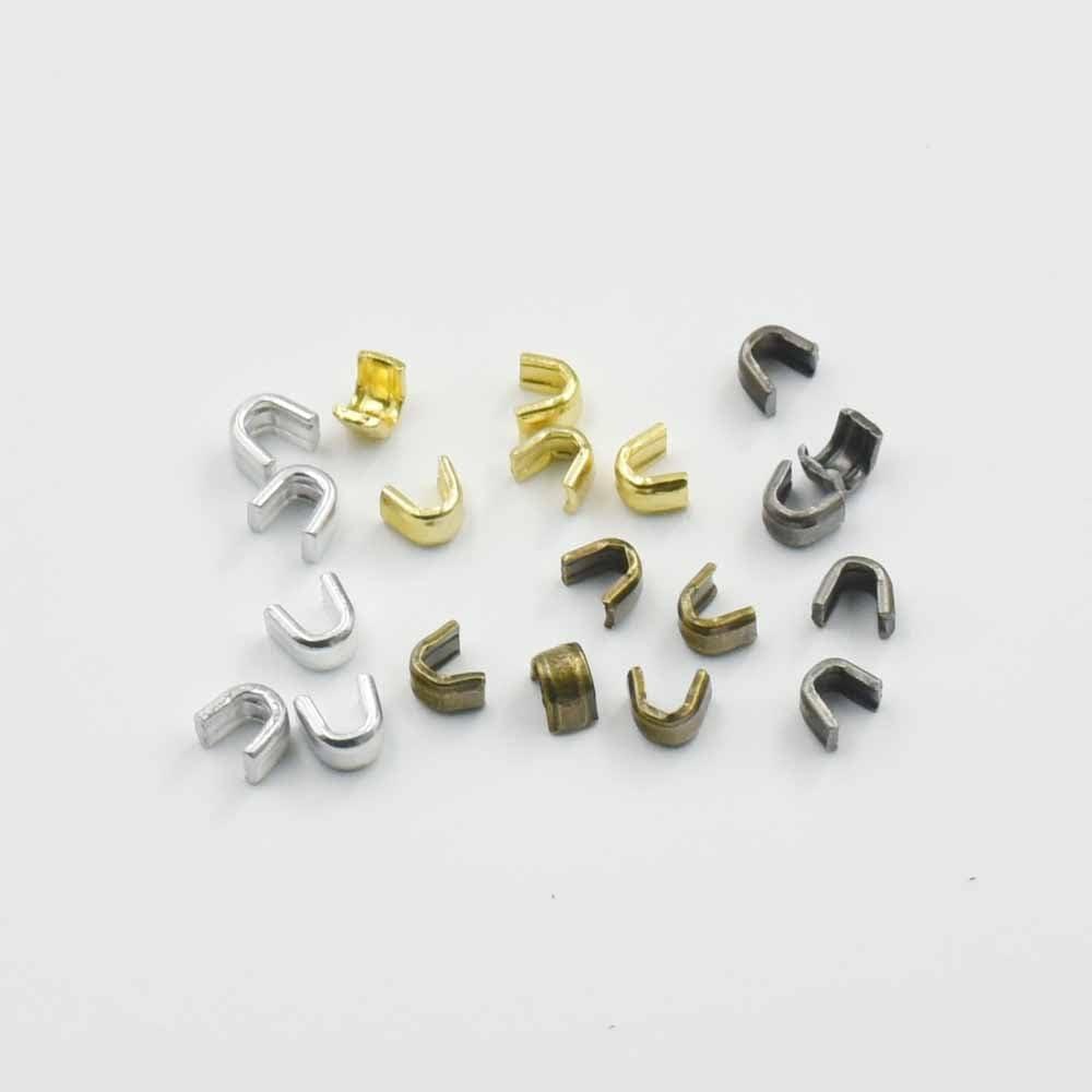 micoshop 200/pcs Cremallera Stopers Top Paradas # 3/# 5/para Spiral Slider Juego de reparaci/ón de Rescate de Parte Inferior Aluminio n/íquel Oro Bronce Nickle-Black Color elecci/ón Dorado 3