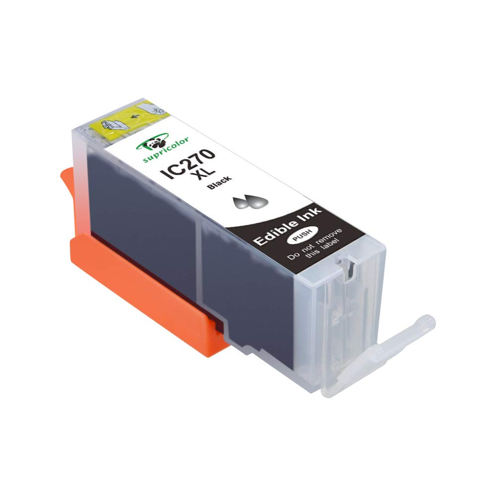 Supricolor Replacement Edible PGI-270XL Ink Cartridge, Compatible for Canon PGI 270 1 Black Use with Canon TS9020 PIXMA MG6820 MG6821 MG6822 MG5720 MG5721 TS8020 by Supricolor (Image #1)