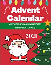 Advent Calendar: Colouring Book and Christmas Challange for Kids | Little Boys and Girls Fun | 2020 Gifts XMas for Friends