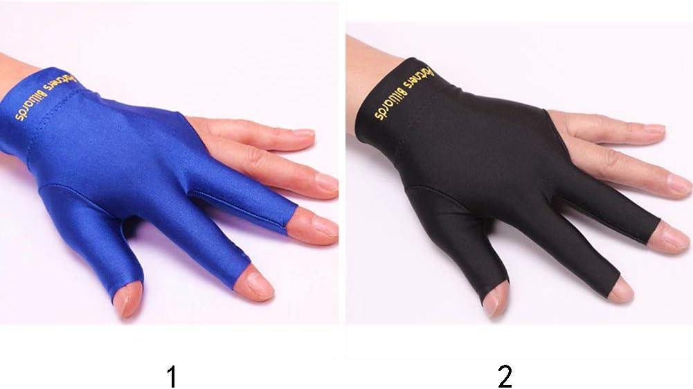 el/ásticos con Tres Dedos Guantes de Billar para Hombre y Mujer se Pueden Llevar en la Mano Derecha o Izquierda Moosungeek