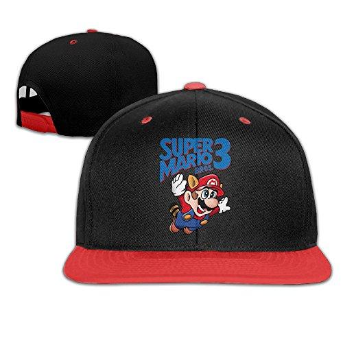 Great Super Mario Bros Logo Princess Toadstool Baseball Caps (Toadstool From Mario)