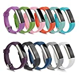Fitbit Alta Bands Best Deals - BillionPair Fitbit Alta Bands, Replacement Band, Silicone Adjustable Wristband Watch Band, with Watch Buckle and Fastener, Multi-Colors Available (No Tracker)