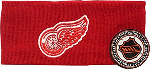 Detroit Red Wings Knit Headband Big Logo Block -