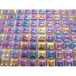 Cerámica esmaltada Mosaic nieve de onneke Van waardenburg nieve de onneke Van waardenburg, 10 x 10 mm. Perlado. 196 unidades de mosaico de sheetal Shah.