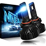 NINEO 9005 HB3 LED Headlight Bulbs - CREE Chips - 12000Lm 6500K Extremely Bright All-in-One Conversion Kit,360 Degree Adjustable Beam Angle