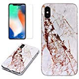 for iPhone X/iPhone Xs Marble Case with Screen