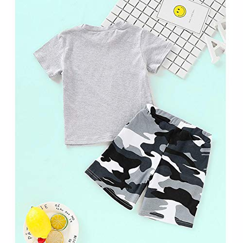 Amazon.com : Kids Baby Boys Letter Printed with Camouflage Pants ...