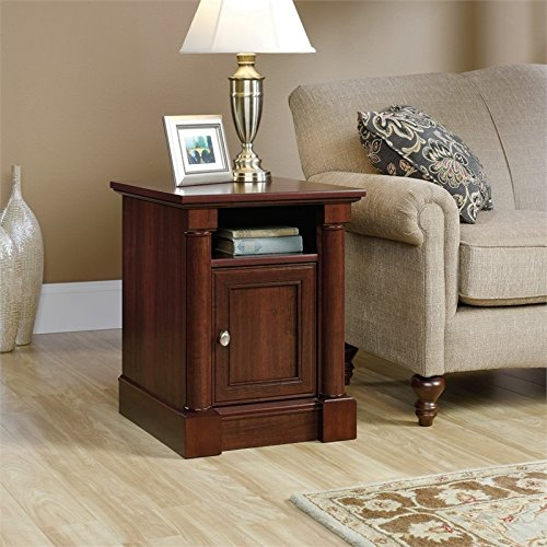 Sauder Palladia Side Table in Select Cherry by Sauder