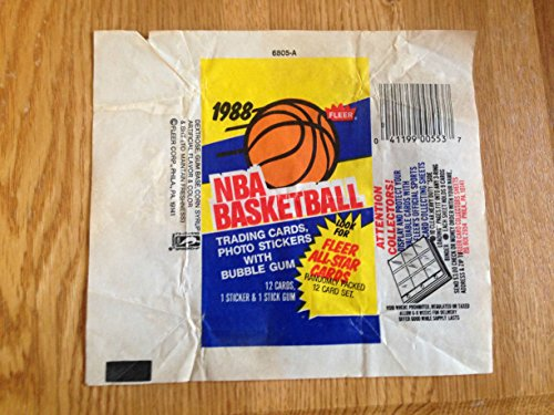 FLEER 1988 NBA BASKETBALL BUBBLE GUM & TRADING CARD WRAPPER NICE - Cards Bubble Gum Trading