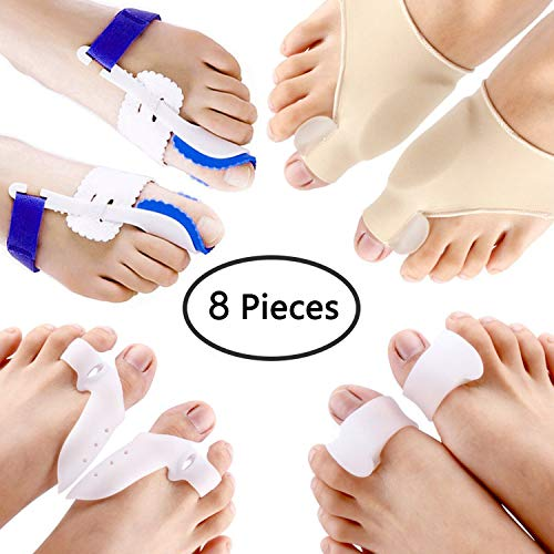 - PAAZA Bunion Corrector & Bunion Relief Kit - Cure Pain in Big Toe Joint, Tailors Bunion, Hallux Valgus, Hammer Toe, Toe Separators Spacers Straighteners Splint Aid Surgery Treatment
