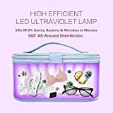 Cahot Portable LED Lamp Bag with 8 UV-C LED Lights, Large UV Box for Cell Phone, Wallet, Bottle, Toys, Beauty Tools and Clothes, Portable Sanitiser Travel Makeup Bag
