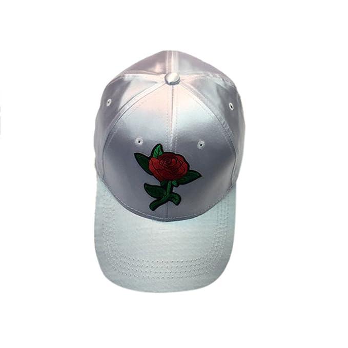Sombrero Gorra Bordada Flor mercerizada Mujeres Hombres Pareja ...