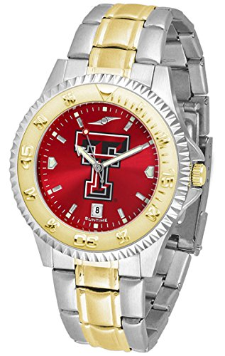 Linkswalker Mens Texas Tech Red Raiders Competitor Two Tone Anochrome - Mens Watch Raiders Executive