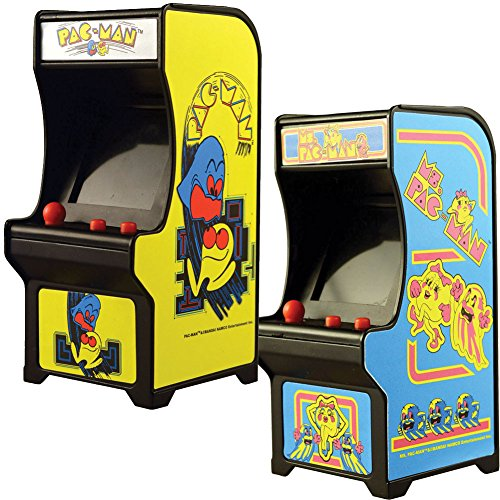 Classic Handheld Pacman And Ms Miniature Arcade Games w/ Joystick (Miniature Handheld)