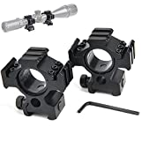 Crossbow Gun with Scope - bestsight Rifle Scope Ring Set 1inch/30mm High Profile Multi Picatinny/Weaver Rail Scope Ring