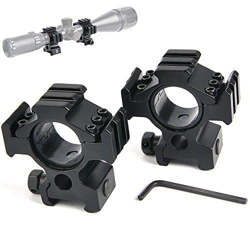 bestsight Rifle Scope Ring Set 1inch/30mm High Profile Multi Picatinny/Weaver Rail Scope Ring by bestsight