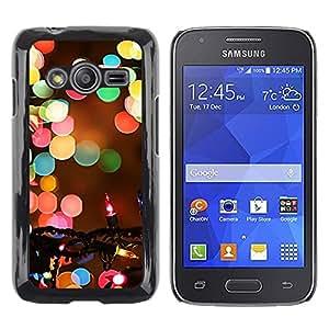 LECELL--Funda protectora / Cubierta / Piel For Samsung Galaxy Ace 4 G313 SM-G313F -- Christmas Blurry Winter Night --
