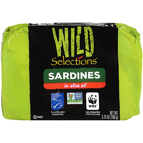 Wild Selections Sardines in Olive Oil, 4.22 Ounce (Pack of 12)