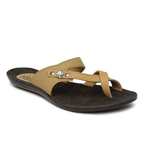 3a33260dd PARAGON SOLEA Women s Beige Flip-Flops  Buy Online at Low Prices in India -  Amazon.in