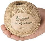Lamia 2 Pack 100% Natural Jute Twine, Total 550