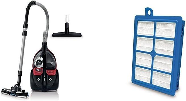 Philips PowerPro Compact Beutelloser Staubsauger mit Allergiefilter