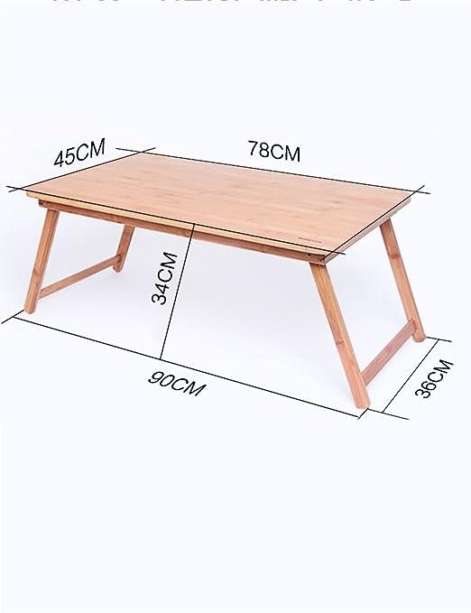 Feifei Bambú Plegable Mesas para portátiles Cama Escritorio ...