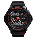 Moda Sport Watch Dual Tiempo LED Analog Digital impermeable alarma multifunción s-shock Reloj de pulsera 0931