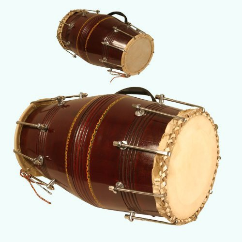 Queen Brass Classically Styled Dholak With Nut and Bolt Musical Instrument MI 052