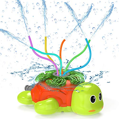 Kiztoys Water Sprinkler For Kids Outdoor Play- Premium Turtle Sprinkler For Kids, Outdoor Water Play Sprinklers, Fun Yard Toy Sprinkler Outdoor, Water Sprinkler For Lawn, Splashing for Fun Summer Days