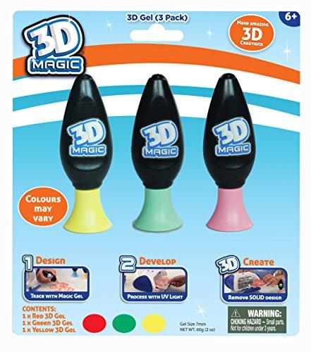 3d magic 3 stylos gel 3d recharge 3 couleurs mod le al atoire. Black Bedroom Furniture Sets. Home Design Ideas