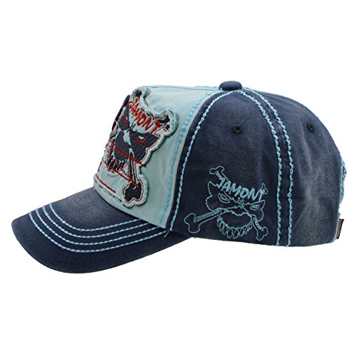 Patch Naranja con Papá Unisex Azul Moda de Style cráneo béisbol gorras lavados de algodón Vintage UPhitnis sombreros de béisbol enérgicas vaqueros ajustable gorra 1dOadx8