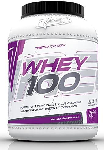 Trec Nutrition Whey 100 Protein Eiweiß Molkenprotein Supplement Eiweißshake Proteinshake Bodybuilding (2275g Dose...