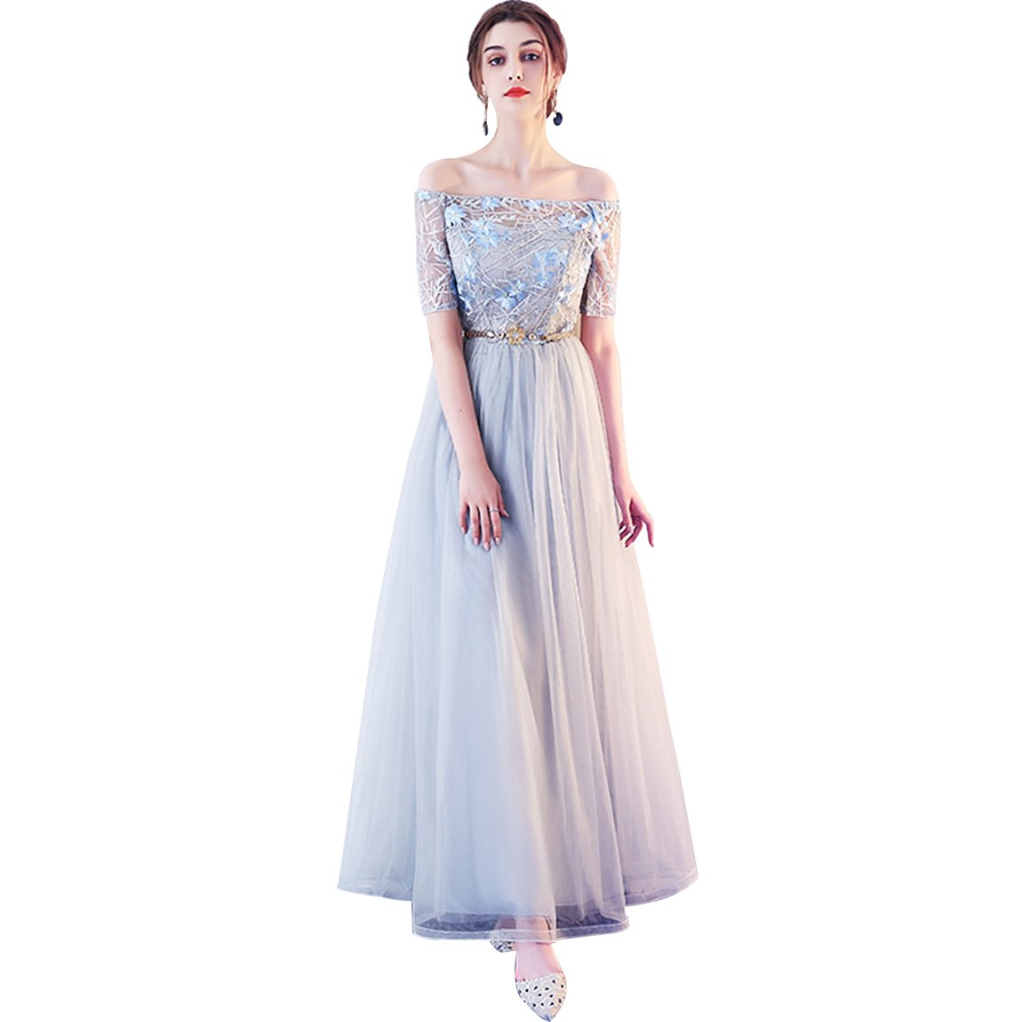 18cf01c8830c1 MAIN FEATURE - This prom dresses long 100% Brand New with high quality  tulle fabric with lace applique embellished Concealed lace-up at the  back Built-in ...