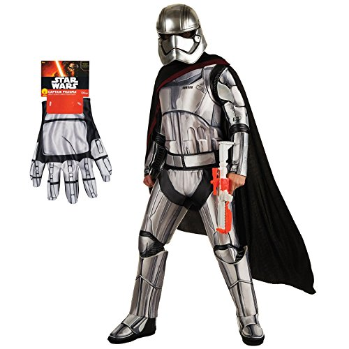 [Star Wars The Force Awakens Captain Phasma Costume Bundle Set - Deluxe Adult X-Large Costume and] (Deluxe Stormtrooper Costumes Child)