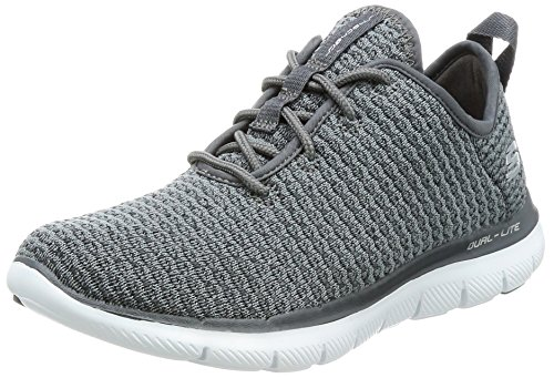 Skechers Womens Flex Appeal 2.0 Sneaker - Bold Move Charcoal Size 8
