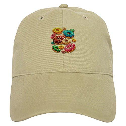 CafePress Donuts Party Time Baseball Baseball Cap with Adjustable Closure, Unique Printed Baseball Hat Khaki