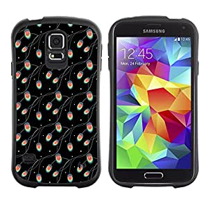 DesignCase Premium TPU / ABS Hybrid Back Case Cover Samsung Galaxy S5 V SM-G900 ( cute flower )