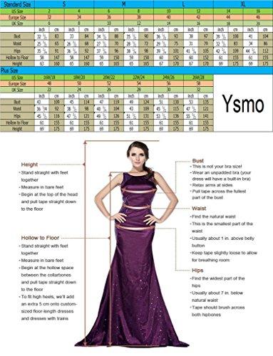 Ysmo - Vestido - sujetador bandeau - para mujer blanco