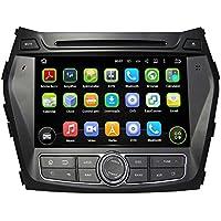8 Inch Android 5.1 Lollipop Car DVD Player for Hyundai Santa Fe / IX45 2013 2014 2015 2016, Quad Core 1.6G CPU 16G Flash 1024x600 Capacitive Touchscreen GPS Navigation Radio