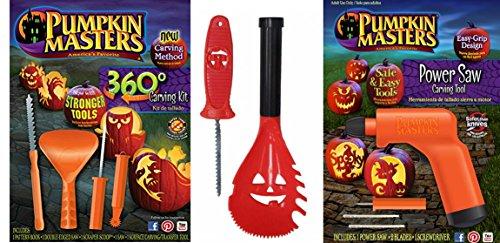 Pumpkin Masters Pumpkin 360 Degree Carving Kit, Power Saw Carving Tool & X-Large Scooper & Saw Carver (Pumpkin Surface Carving Kit)