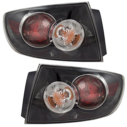 Driver and Passenger Taillights Quarter Panel Mounted Tail Lamps Replacement for Mazda 3 Mazda3 Sedan BR5H51160C BR5H51150C - Mazda Lamps