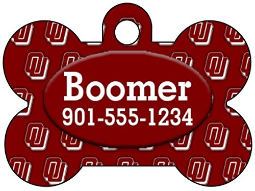 Oklahoma Sooners Personalized Dog Tag Pet Id Tag w/ Your Pets Name and Number