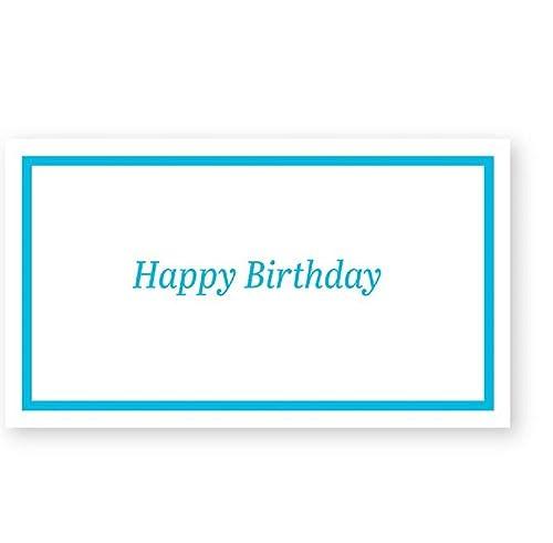Amazon.com: Feliz cumpleaños Simple borde Tarjeta de regalo ...